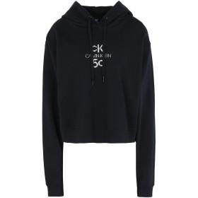 《期間限定セール開催中!》CALVIN KLEIN JEANS レディース スウェットシャツ ブラック XS コットン BCI 100% SMALL LOGO CROPPED