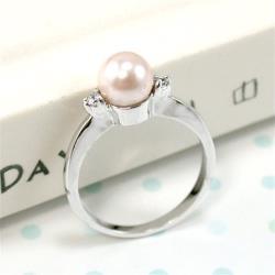 【伊飾童話】純色明眸粉色珍珠戒指