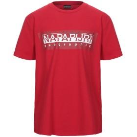 《期間限定セール開催中!》NAPAPIJRI メンズ T シャツ レッド M コットン 100%