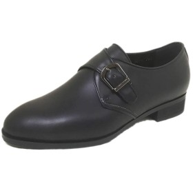 [Vesta] ヴェスタ カーフ モンクストラップ 紳士靴 4E 日本製・自社内製造 (25.5, ブラック)