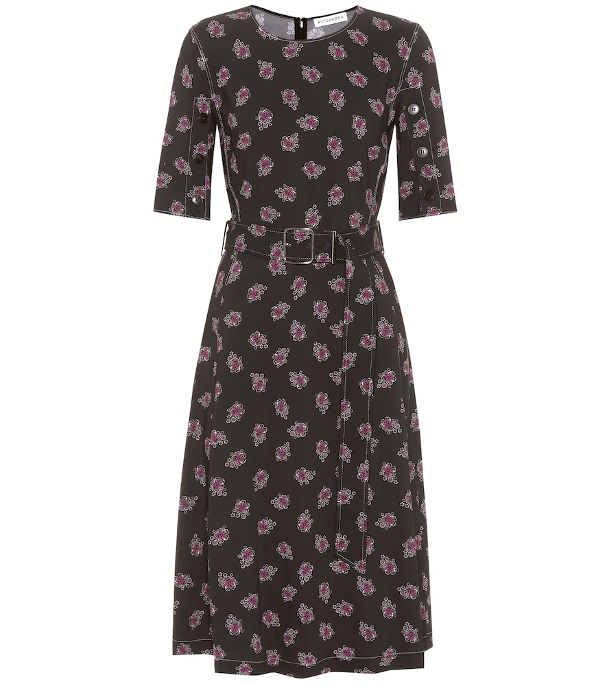 Elena printed cady dress