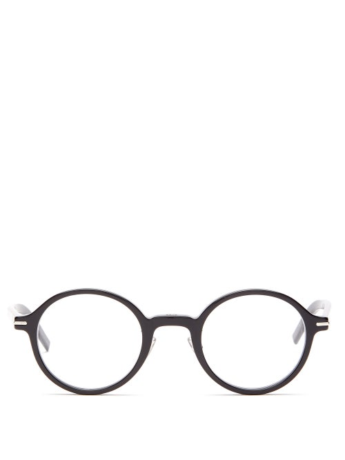 Dior - Blacktie Round Acetate Glasses - Mens - Black