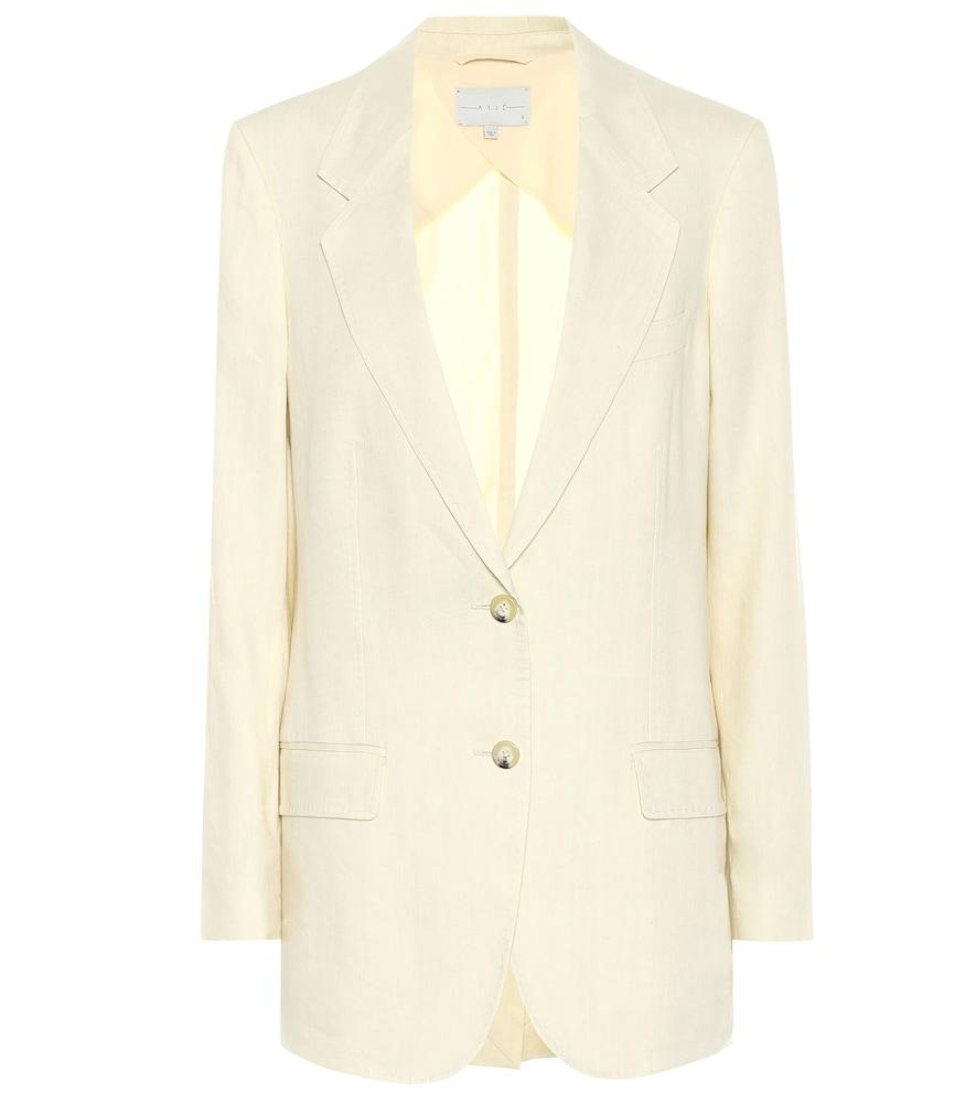 The Rey linen-blend blazer