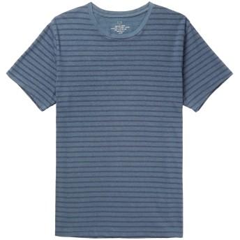 《セール開催中》S.K.U. SAVE KHAKI UNITED メンズ T シャツ ブルー XL コットン 67% / 指定外繊維(ヘンプ) 22% / ポリエステル 11%