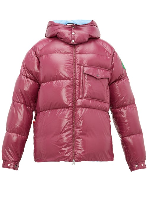 2 Moncler 1952 - Barthet Hooded Quilted Down Jacket - Mens - Purple