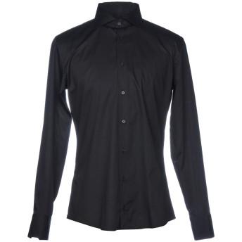 《セール開催中》HAMAKI-HO メンズ シャツ ブラック M コットン 97% / ポリウレタン 3%