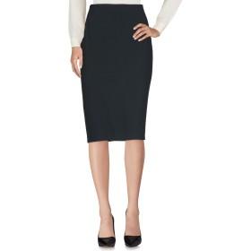 《セール開催中》CLIPS レディース 7分丈スカート ブラック 50 レーヨン 70% / アセテート 26% / ポリウレタン 4%