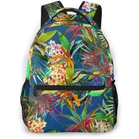 バックパック 水彩花 Pcリュック ビジネスリュック バッグ 防水バックパック 多機能 通学 出張 旅行用デイパック