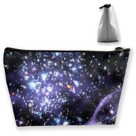Cosmetic Bag - Travel Toiletry Pouch Makeup with Zipper (Space Brilliant Galaxy)