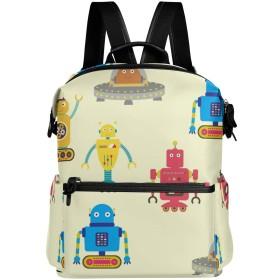 ロボット 漫画 リュックサック リュック 通勤 通学 ショルダーバッグ バックパック 軽量 大容量 カジュアルバッグ シューズバッグ pc収納可能 男女兼用 旅行 鞄 バッグ カバン