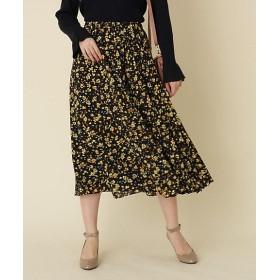 【SALE(三越)】<Couture Brooch/クチュールブローチ> フレアロング小花スカート(2001550317) アオ【三越・伊勢丹/公式】