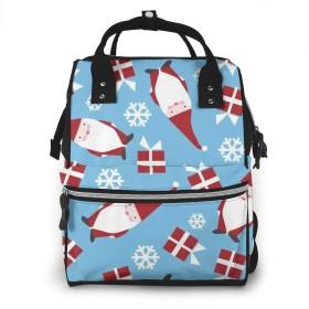 クリスマスホリデーデンマークのおむつバックパック、大容量ベビーバッグ、多機能旅行バックパックおむつバッグ、授乳バッグ、ファッションミイラ、ベビーケア用の広々とした防水、スタイリッシュで耐久性(クリスマスキャンディケイン)