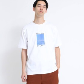 tk.TAKEO KIKUCHI(ティーケー タケオキクチ:メンズ)/NIGHT VIEW フォトグラフィックTシャツ