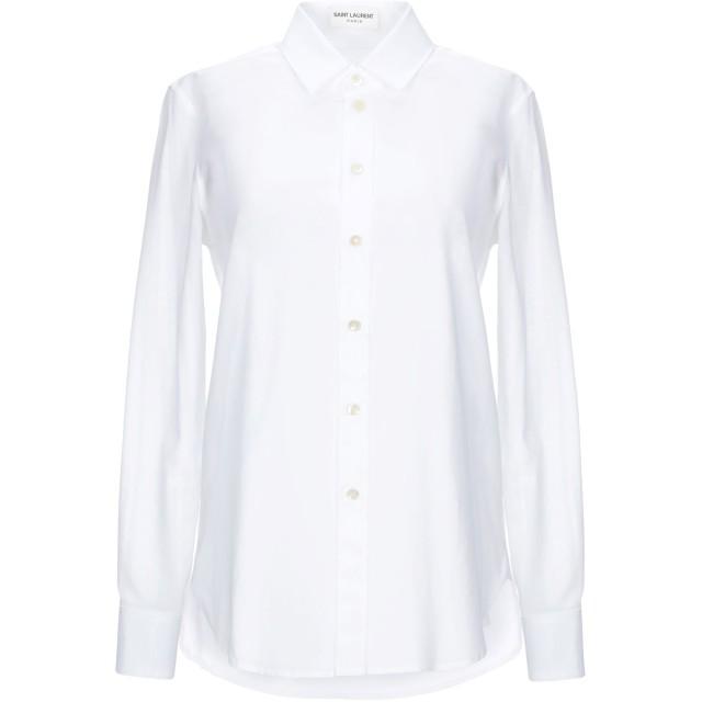 《セール開催中》SAINT LAURENT レディース シャツ ホワイト 42 100% コットン
