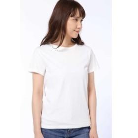 【HUMAN WOMAN:トップス】50/2新きょう綿 半袖Tシャツ