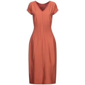 《セール開催中》ROBERTO COLLINA レディース 7分丈ワンピース・ドレス オレンジ XS レーヨン 83% / ポリエステル 17%
