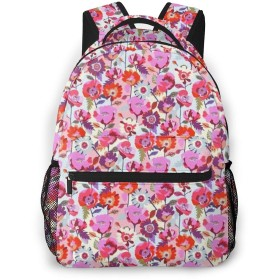 バックパック ピンクの花 Pcリュック ビジネスリュック バッグ 防水バックパック 多機能 通学 出張 旅行用デイパック