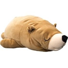 もちもちクッション くま抱き枕 / 32×68cm ブラウン / シリコン綿 洗える 〔リビング〕 『クマダキマクラ』 九装