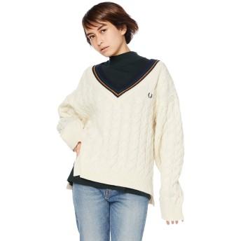 [フレッドペリー] セーター Tilden Sweater F7178 レディース 09_OFF WHITE UK 10 (日本サイズM相当)