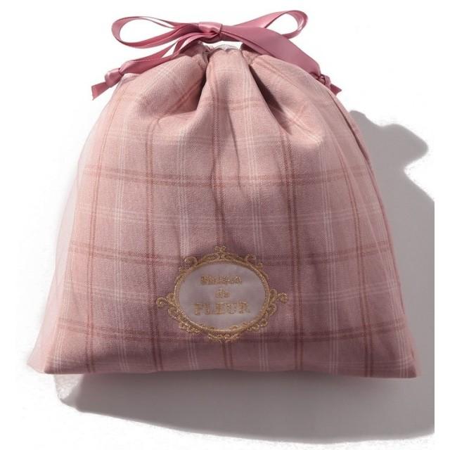 【10%OFF】 メゾンドフルール チュールチェック巾着 レディース ピンク FREE 【Maison de FLEUR】 【タイムセール開催中】