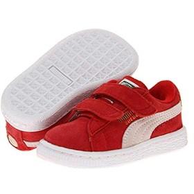 [プーマ] キッズカジュアルシューズ・靴 Suede 2 Straps (Toddler) High Rick Red/White (13cm) M [並行輸入品]