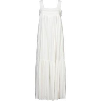 《セール開催中》ROBERTO COLLINA レディース ロングワンピース&ドレス ホワイト XS コットン 100%