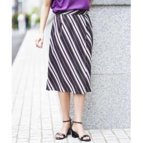 (a.v.v/アー・ヴェ・ヴェ)ストライプラップスカート[WEB限定サイズ]/レディース ブラウン
