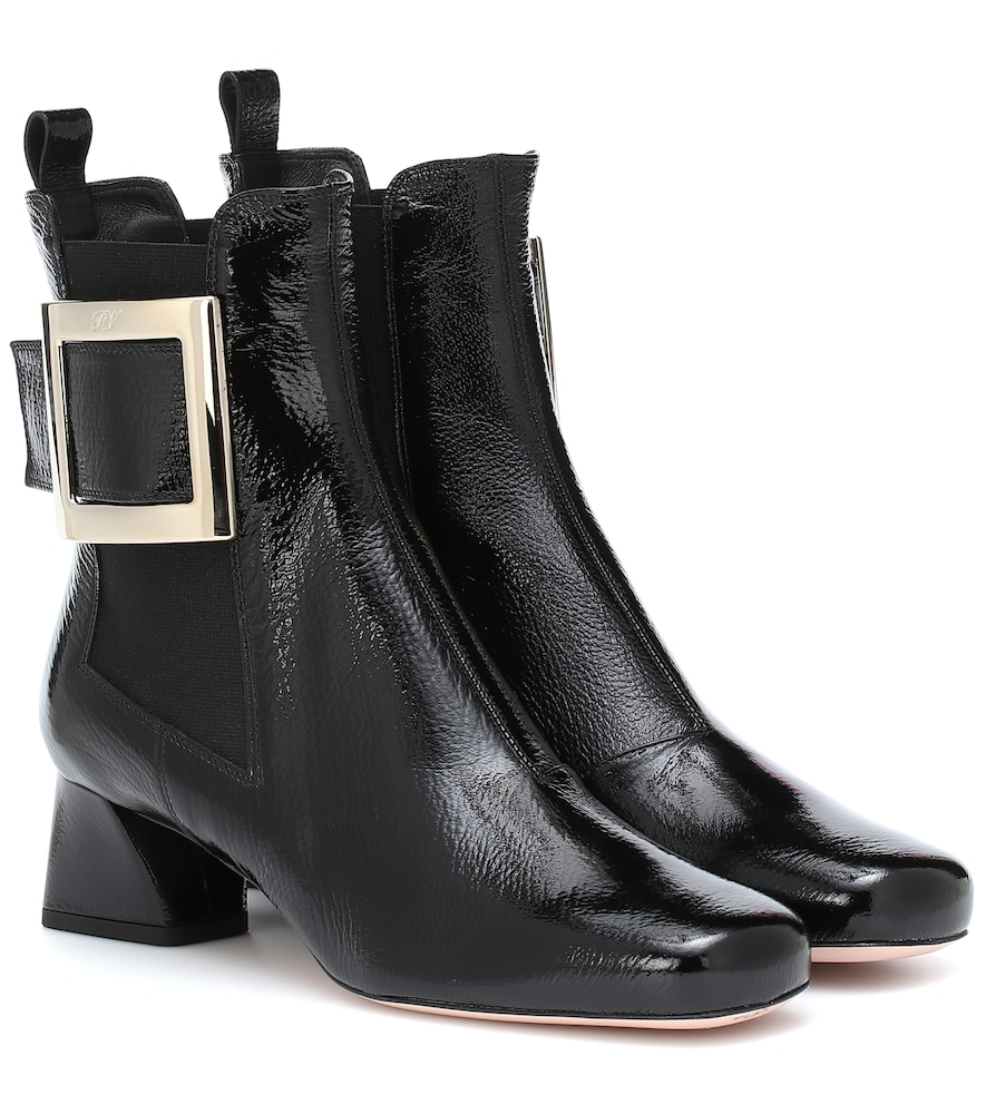 Très Vivier patent leather ankle boots