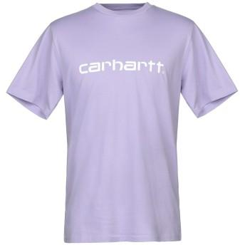 《セール開催中》CARHARTT メンズ T シャツ ライラック S コットン 100%
