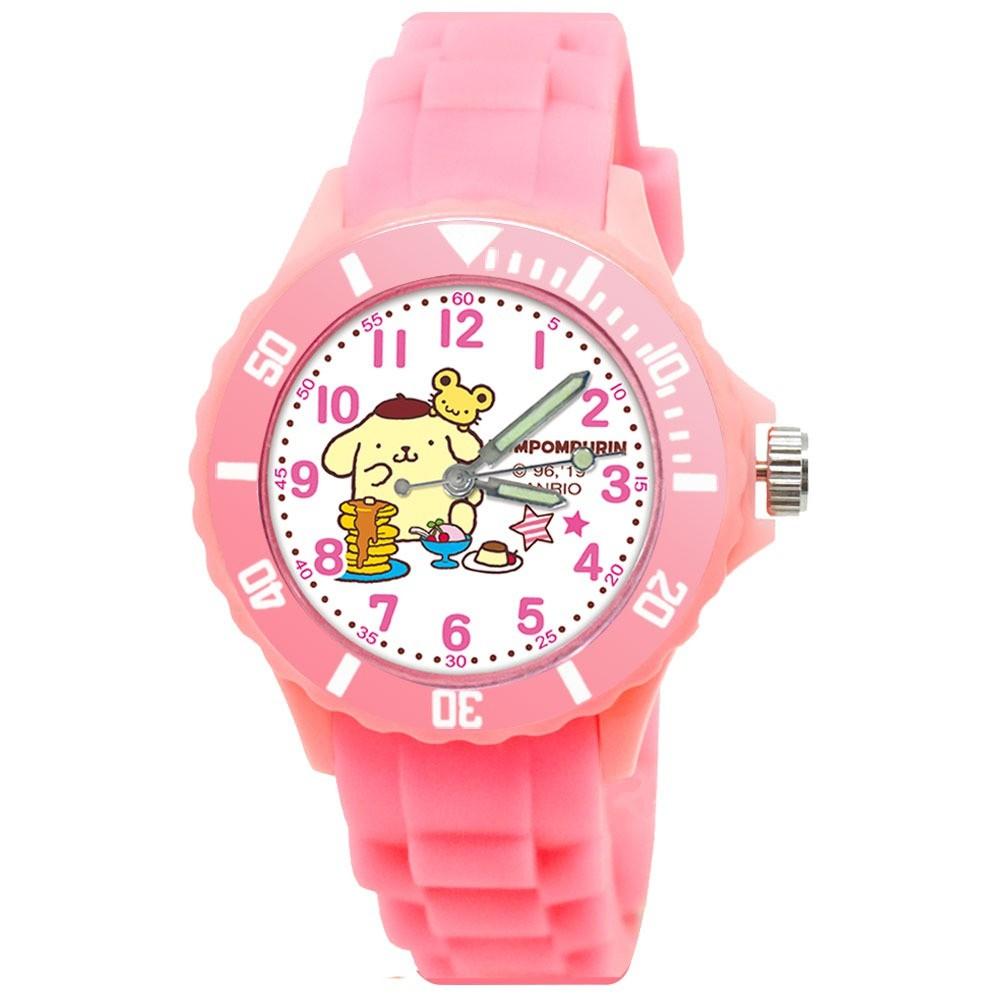 【三麗鷗】慵懶布丁狗 派對運動彩帶手錶(中型/粉)