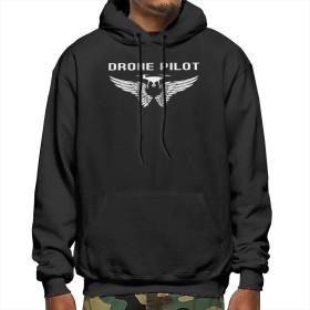 Drone Pilot スウェットパーカー メンズ プルオーバーパーカー ぜんぷく全幅 秋 冬 長袖 無地 厚手 裏起毛 カジュアル スポーツ