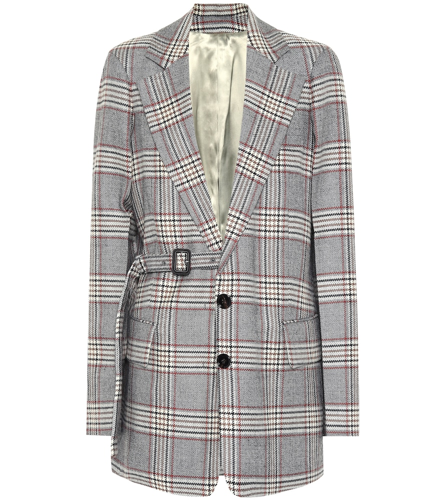 Gemina checked wool blazer