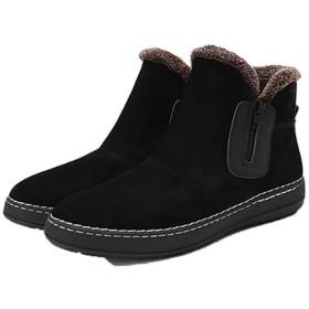 [Donahutt03] ショートブーツ ムートンブーツ メンズ ブーツ あったか ポア 防寒ブーツ ブラック おしゃれ シンプル 男 24.5cm 軽量 メンズ靴 スリッポン 紳士靴 あったかい 保温 紳士靴 カジュアル 暖靴 柔らかい ウインターシューズ スノーブーツ