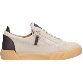 《セール開催中》GIUSEPPE ZANOTTI メンズ スニーカー&テニスシューズ(ローカット) サンド 39 革 / 紡績繊維