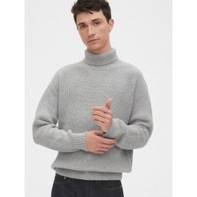 Gap オーバーサイズ シェーカーステッチタートルネックセーター