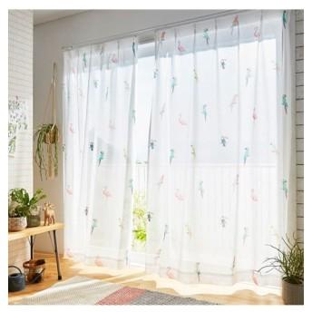 【送料無料!】ボタニカルな雰囲気のバード柄レースカーテン レースカーテン・ボイルカーテン, Curtains, 窗, 窗簾, sheer curtains, net curtains(ニッセン、nissen)