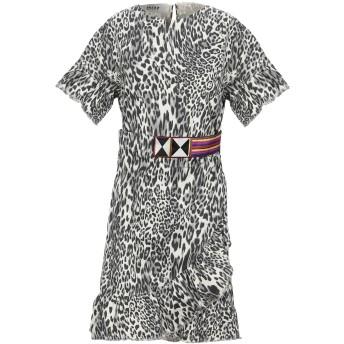 《セール開催中》BAZAR DELUXE レディース ミニワンピース&ドレス アイボリー 42 コットン 95% / ポリウレタン 5%