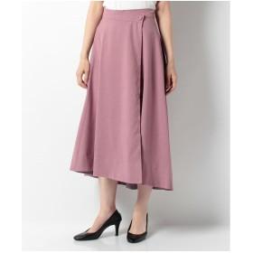 BE RADIANCE フレアロングフィッシュテールスカート(ピンク)【返品不可商品】