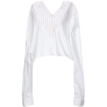 《セール開催中》BEN TAVERNITI UNRAVEL PROJECT レディース シャツ ホワイト 36 コットン 100%