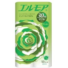 エルモア12ロール ダブル30m 427201 花の香り 12P(8) カミ商事 12入り 取寄品【介護福祉用具】