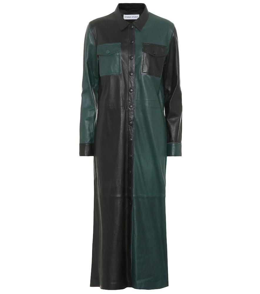 Alte leather midi dress