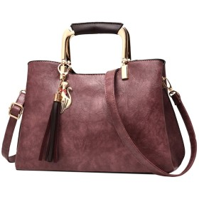 女性のレザーバッグの女性の高級ハンドバッグデザイナーピンクハンドバッグシンプルなピュアカラーシングルショルダーメッセンジャーバッグカジュアル、パープル