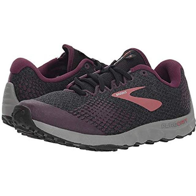 [ブルックス] レディーススニーカー・靴・シューズ PureGrit 7 Black/Purple/Grey (24cm) B - Medium [並行輸入品]