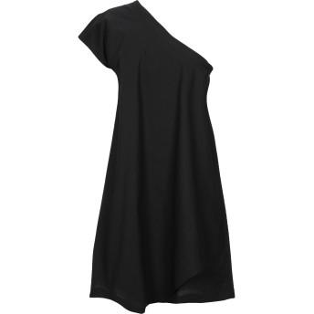《セール開催中》MANILA GRACE レディース ミニワンピース&ドレス ブラック 44 コットン 96% / ポリウレタン 4%