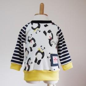 size80☆パンダ柄長袖Tシャツ