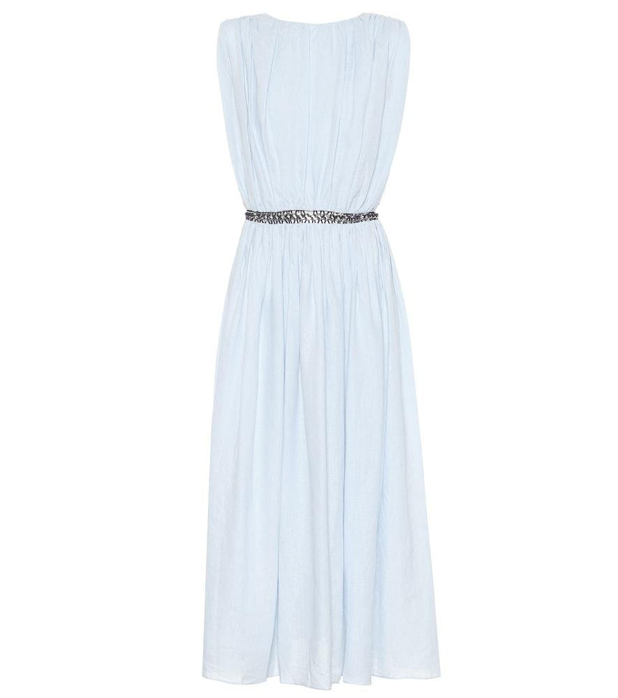 Cristina linen midi dress
