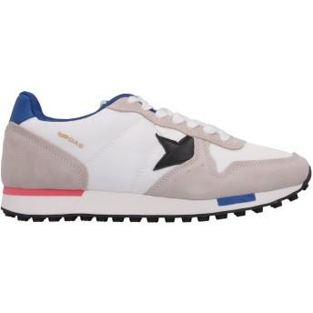 《セール開催中》GAS メンズ スニーカー&テニスシューズ(ローカット) ホワイト 40 紡績繊維 / 革