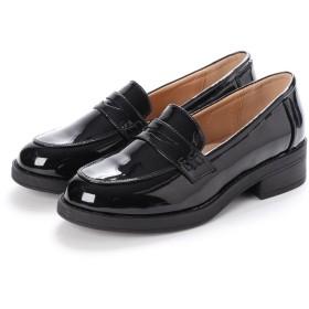 SFW サンエープラスフェミニン AAA feminine おじ靴'マニッシュコインローファー/3571 (ブラックエナメル)
