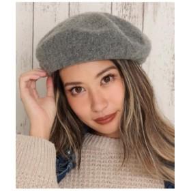 (ANAP/アナップ)ウールタッチベレー帽/レディース グレー