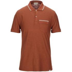 《セール開催中》BROOKSFIELD メンズ ポロシャツ ブラウン 50 コットン 100%